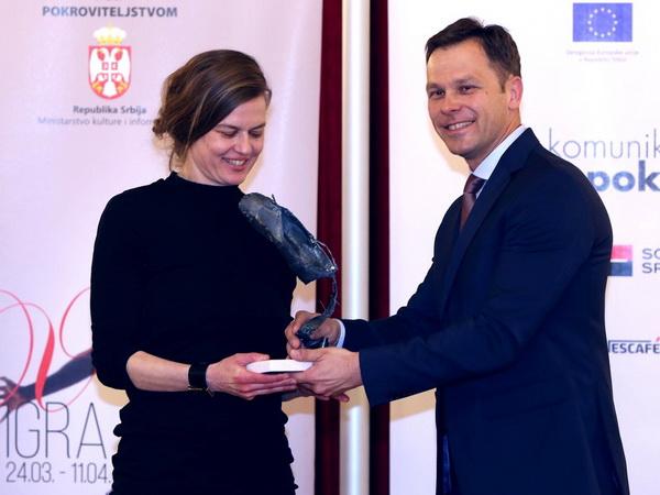 Šaron Ejal uručena nagrada Jovan Ćirilov