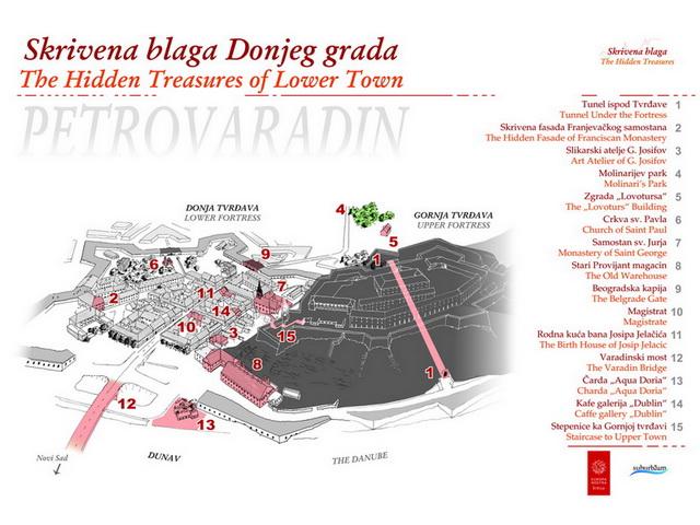 mapa petrovaradina Skrivena blaga Petrovaradina | SEEcult.org mapa petrovaradina