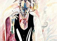 Zoran Popovic, Autoportret, akvarel, 3. oktobar 1984.